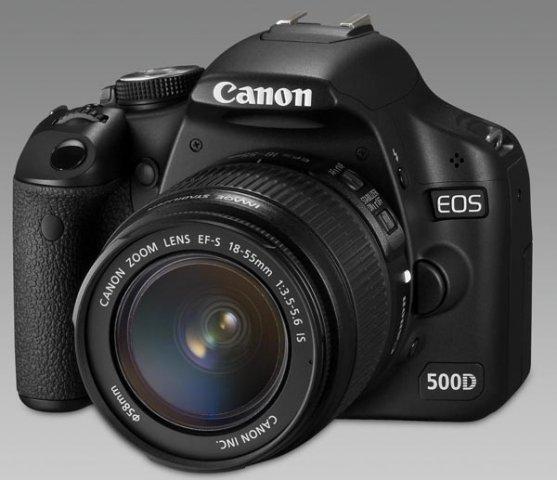 Lustrzanka cyfrowa Canon EOS 500d + ob. 18-55mm