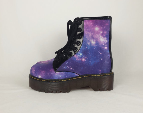 Galaxy boots, galaxy shoes,