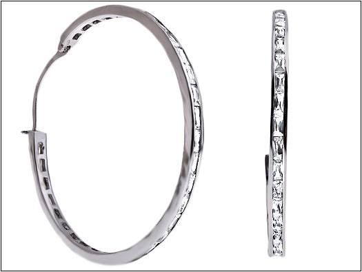 kolczyki-duże srebrne kółka