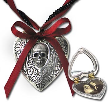 naszyjnik The Reliquary Heart Locket [P496] Alchemy Gothic