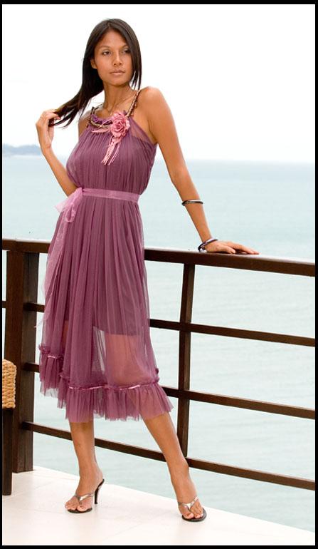 DS-0041-PR Sukienka wieczorowa