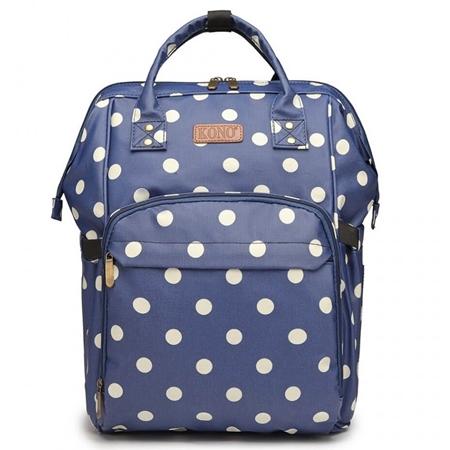 Uroczy plecak w groszki