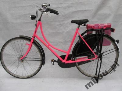 Rower ! Damka . Różowa . Rower miejski .