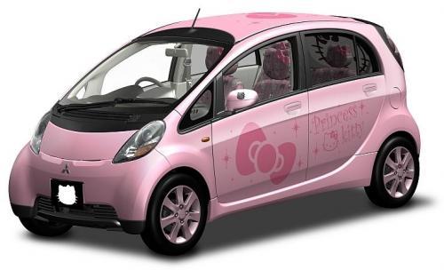 Samochód Hello-Kitty