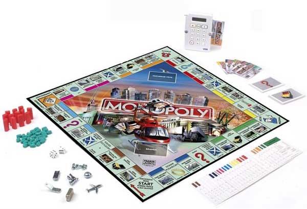 MONOPOL Monopoly TU i TERAZ Banking GRA HASBRO