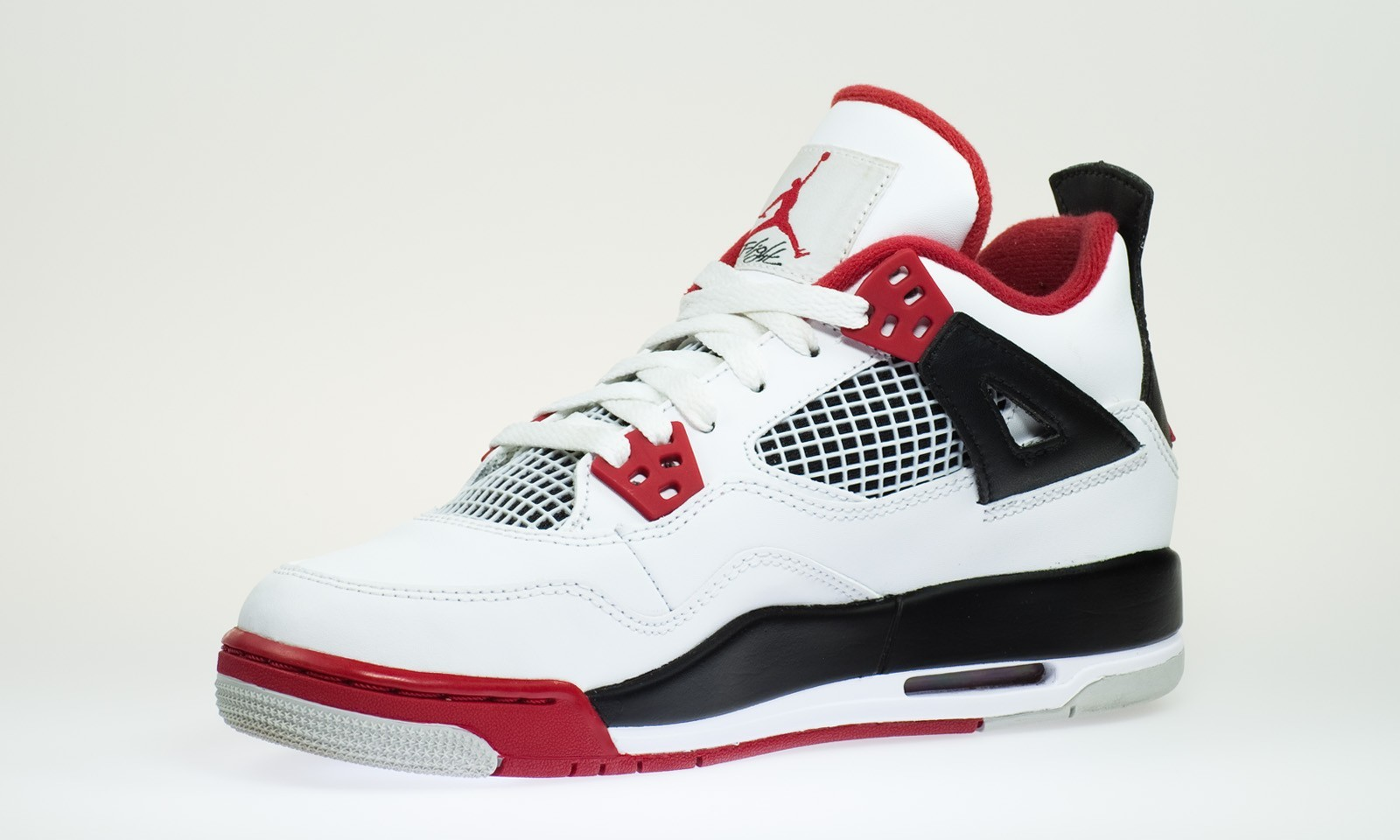 Air Jordan 4(IV) Retro - GS - White Varsity Red
