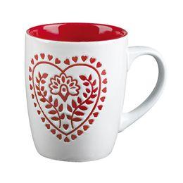 Red&white, Kubek serce, biały