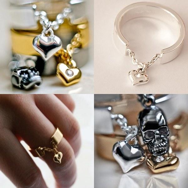 Srebrny pierścionek z sercem florentines