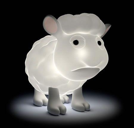 Lampka w kształcie owieczki
