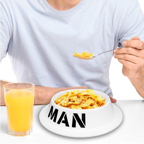Miska dla mężczyzny