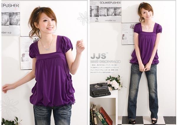 Purpurowa bluzka japan style.