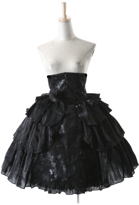Pyon Pyon LQ-028 spódnica wysoki stan falbany gothic lolita