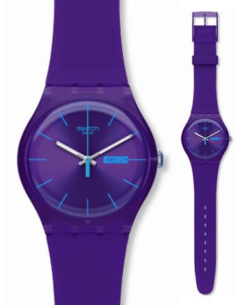 zegarek SWATCH (fioletowy)