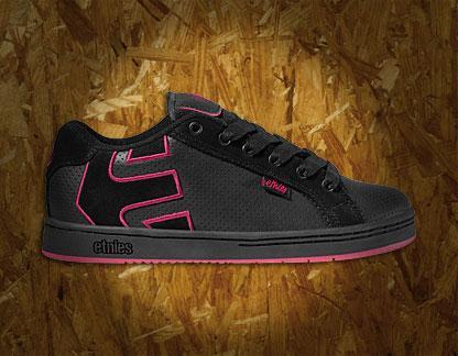 buty Etnies (czarno - różowe)