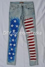 Dżinsy z flagą USA