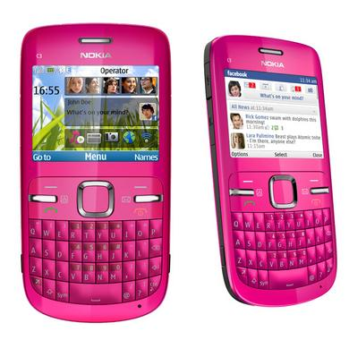 Telefon NOKIA C3 pink