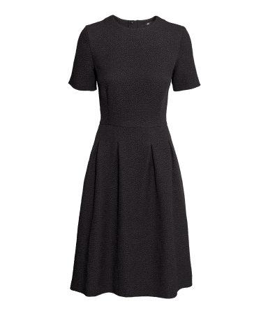 Czarna sukienka za kolana H&M