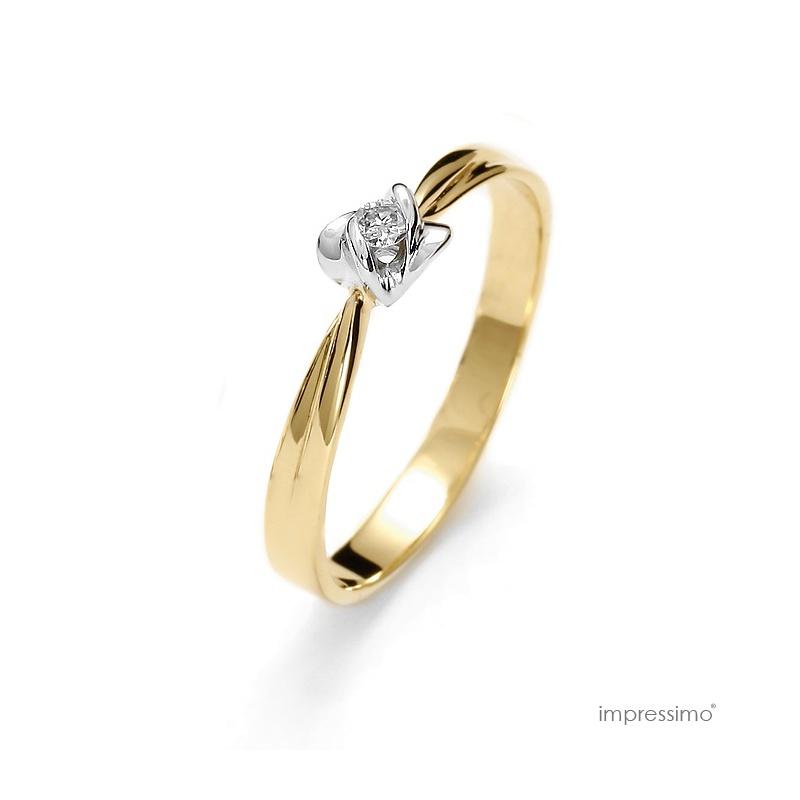 Pierścionek zaręczynowy z brylantem - Impressimo