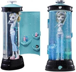 MONSTER HIGH LAGOONA BLUE lalka hydrostacja lozko