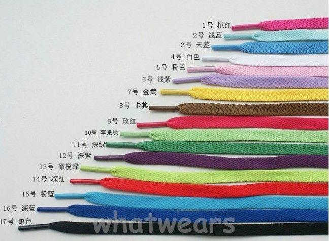 Zestaw różnokolorowych sznurówek