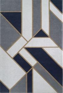 DYWAN CARPET DECOR ART DECO GATSBY DARK BLUE