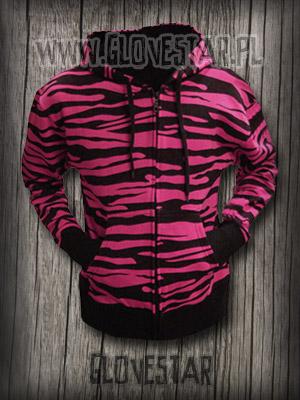 Bluza w zebrę różowa