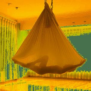 Hamak aerial szary