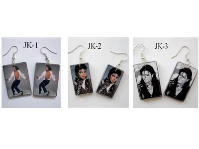 Kolczyki z Michael'em Jackson'em