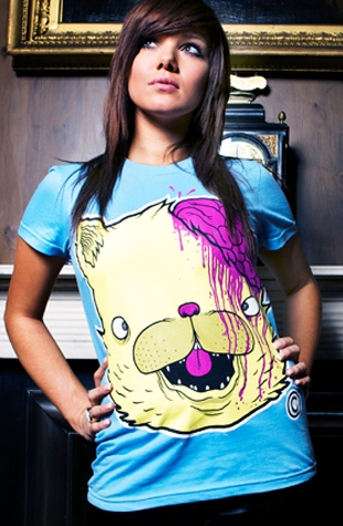 Drop Dead Blue Kitty Brainz Girls
