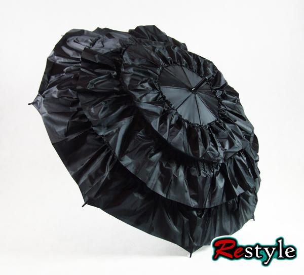 Parasolka z falbanami, przeciwdeszczowa