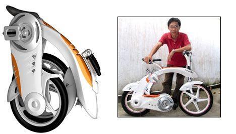 Koncepcyjny, elektryczny, składany rower