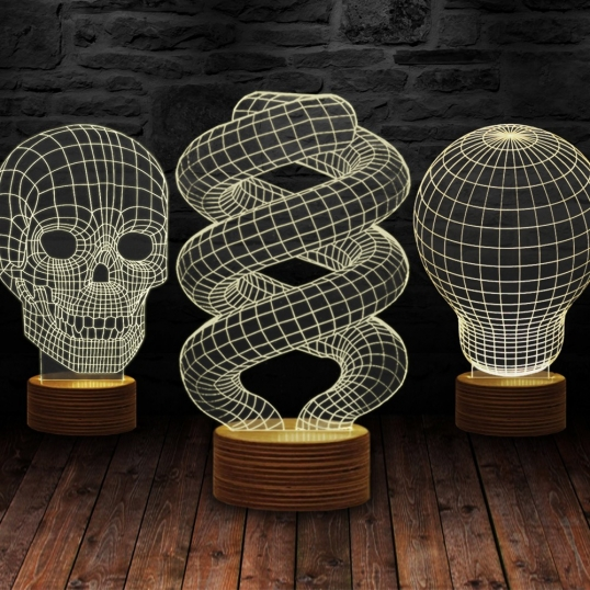 Iluzoryczna Lampa 3D