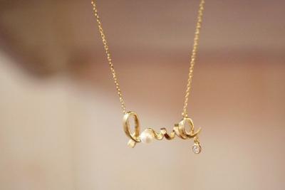 Naszyjnik LOVE Japan Style Srebry lub Złoty!!!!