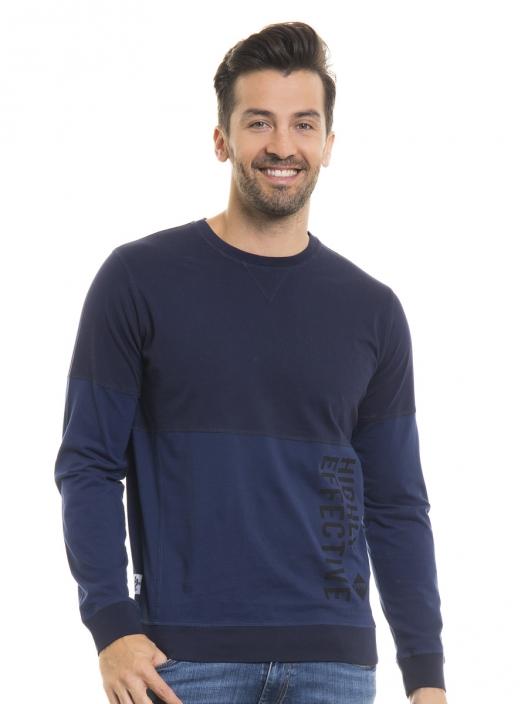 Niebieska bluza męska