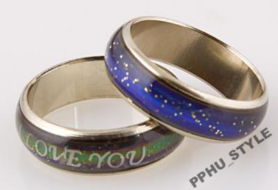 pierścionki emocjonalne zmieniające kolor