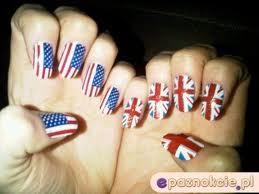 Paznokcie USA i Wielka Brytania ;D