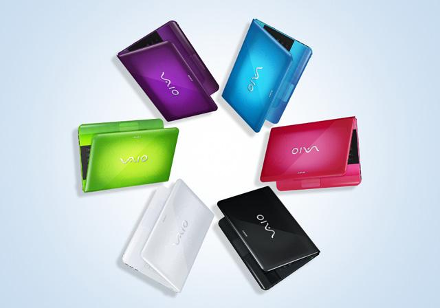 Kolorowy netbook Sony Vaio