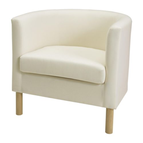 Biały fotel Ikea