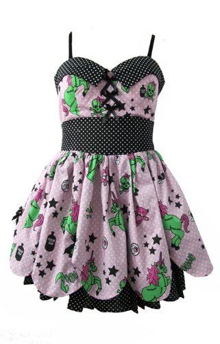 New HELL BUNNY Zombie Unicorn 50's Dress