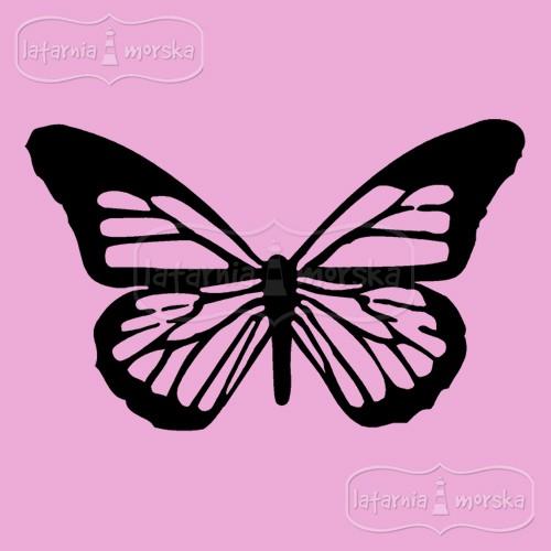 Stempel/pieczątka gumowa: motyl Monarch duży