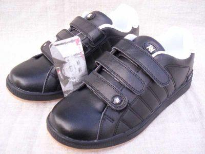 czarne buty na rzepy