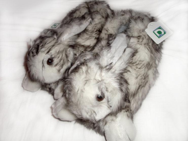 Pluszowe kapcie-króliczki