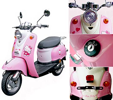 motor hello kitty