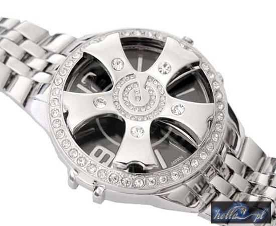 black spinnin' bling watch