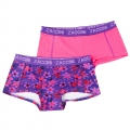 Zaccini Flower Mix 2-pack lady boxers purple/fuchsia