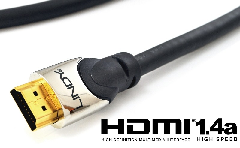 Kabel HDMI - HDMI 1.4a High Speed Cat2 Ethernet, 3D Lindy 41402 - 2m