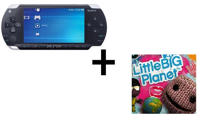 PSP + gra Little Big Planet :D