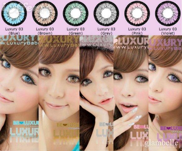 Circle lenses fioletowe/niebieskie/zielone