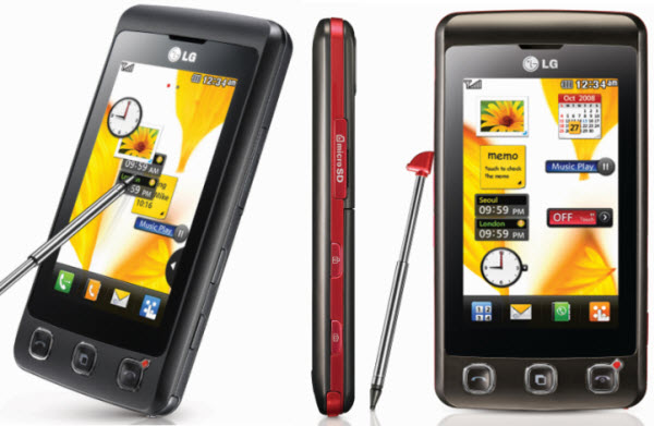 Czarny telefon komurkowy LG KP500