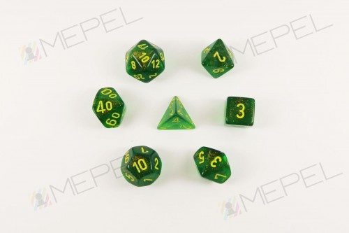 kości chessex borealis maple green/yellow